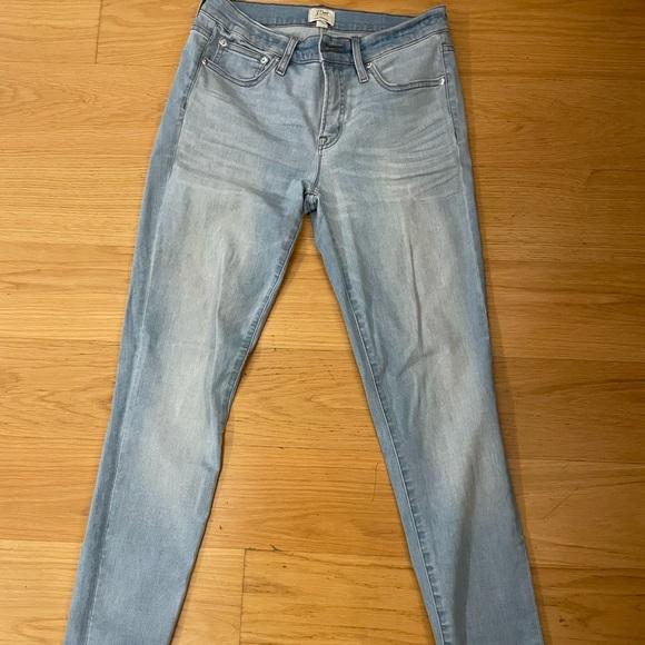 JCrew skinny light wash jeans